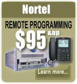 Nortel Remote Programming